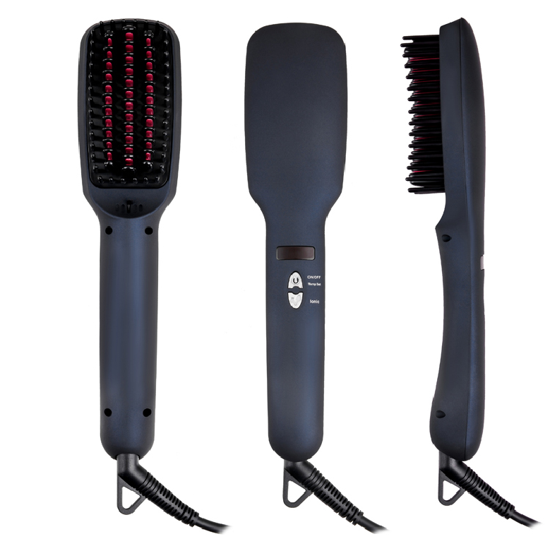 2 in 1 Hair Straightener Curler Brush